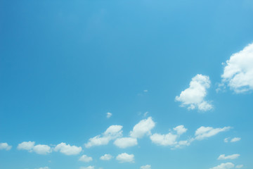 Beautiful blue sky and white clouds.