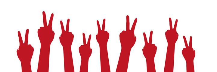 Hände Friedenszeichen