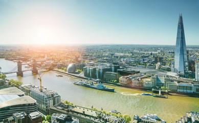 The london Tower bridge at sunrise