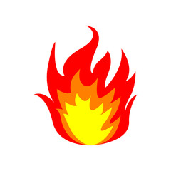 Fire flame. Vector illustration.