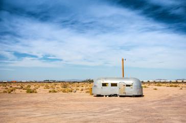 Abandoned vintage trailer