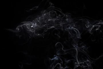 White smoke of aroma stick