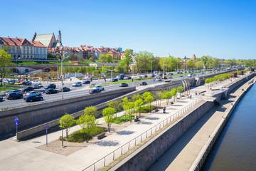 Warsaw Poland, Riverside Promenade