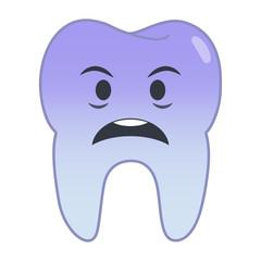 Zahn Emoji - geschockt