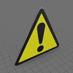 Abstract warning sign