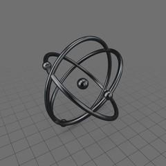 Model of atom symbol