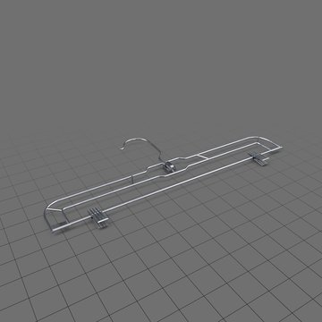 Basic clothes hanger with clips