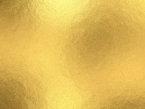 Gold foil background with light reflections.