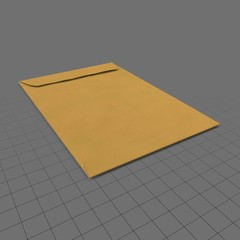 Closed long envelope