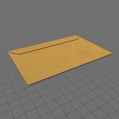 Closed wide envelope