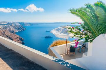 Outlook over Caldera of Santorini Greece