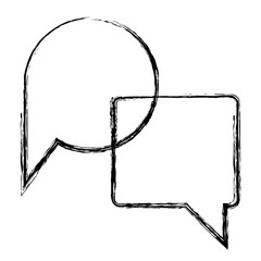 speech bubble message icon vector illustration design