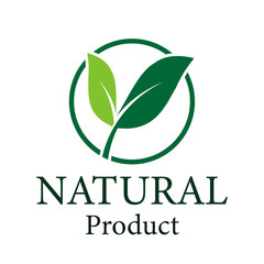 Green leaf logo,ecology natural design product.Vector illustration.