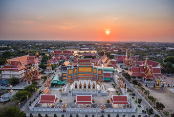 Temple in Thailand, High angle view