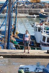 A boy posing in the city of Essaouira