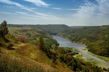 The banks of the Ternav River near the village of Kitaygorod. Podillja. Kamyanets Podolsky district.