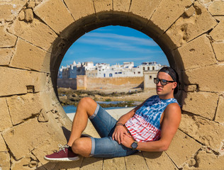 A boy posing from the city of Essaouira