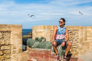 A boy posing from the city of Essaouira