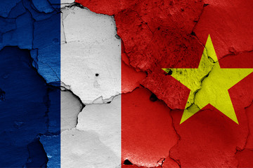 flags of French Indochina and North Vietnam