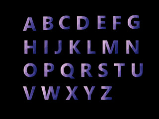 Vector Alphabet Set geometric font