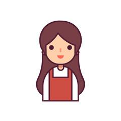 Woman Avatar Character Vector Illustration