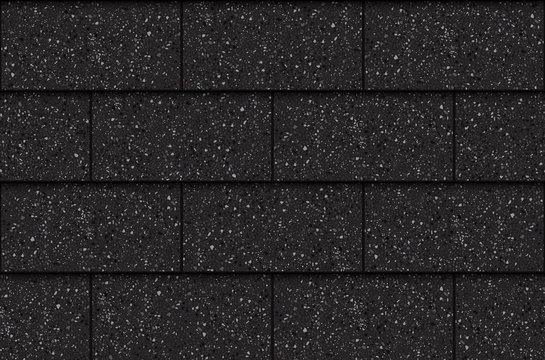 Asphalt roof shingles, seamless pattern, rectangles, vector illustration