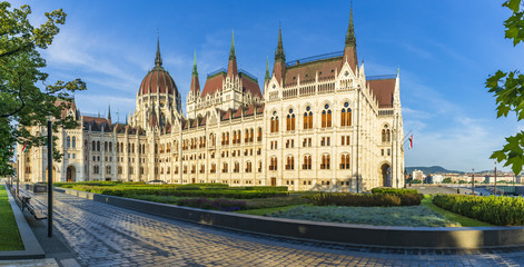 Hungarian Parliament is a notable landmark of Hungary and a popular tourist destination in Budapest.