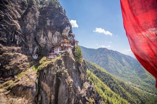 The Tigers Nest in Bhutan