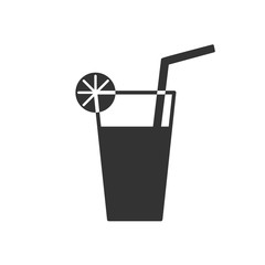 Black isolated icon of cocktail on white background. Line Icon of cocktail.