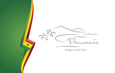 Senegal abstract flag brochure cover poster background vector