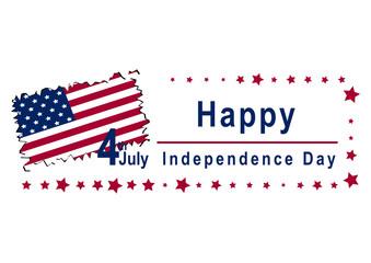 Independence Day - Design mit Text und Landkarte. Vektor Datei, Eps 10