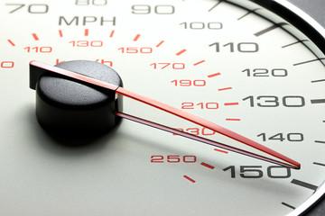 speedometer at 150 MPH