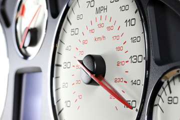 speedometer at 150 MPH