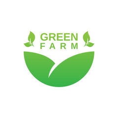 Agriculture or green farm logo design template