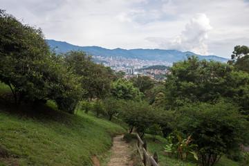 Foto op Canvas Zuid-Amerika land Cerro de las tres cruces, Medellín, Colombie
