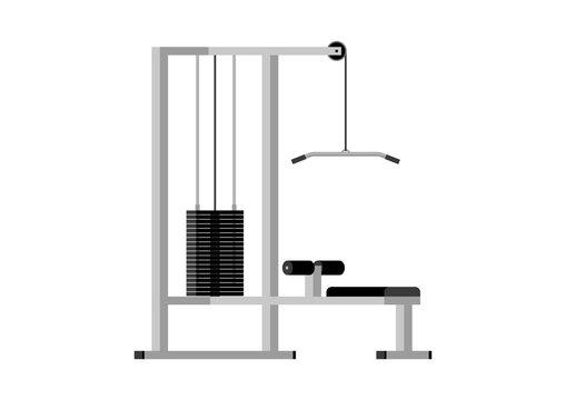Vector illustration. Training apparatus crossover.