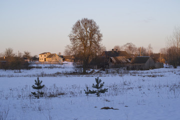 Winter morning in the village