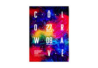Poster Layout with Rainbow Texture Element