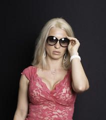Middle age beautiful blond woman