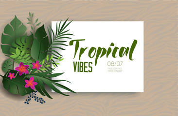 Tropical nature poster
