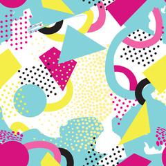 Abstract seamless pattern Blots, dots geometric background