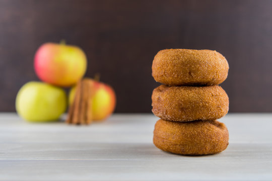 Stack of Three Apple Cider Donuts