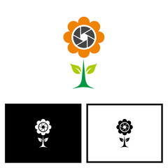 Flower Photography, Flower + Lens Logo