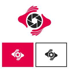 Photography Logo, Lens + Hand Logo