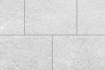 Outdoor white stone tile floor seamless background and texture
