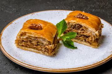 Traditional arabic dessert Baklava