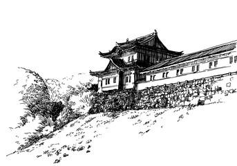Japan castle 2B