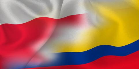 ポーランド コロンビア  国旗 サッカー