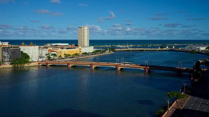 Capibaribe River and bridges of Recife, Pernambuco, Brazil