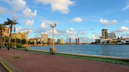 Santo Antonio neighbourhood and Capibaribe River, downtown Recife, Pernambuco, Brazil